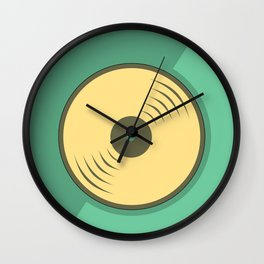 Vinyl records icon illustration Wall Clock