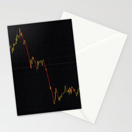 Forex stock market chart Stationery Cards