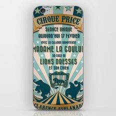 CIRQUE PRICE BLEU iPhone & iPod Skin
