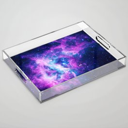 Dream Of Nebula Galaxy Acrylic Tray