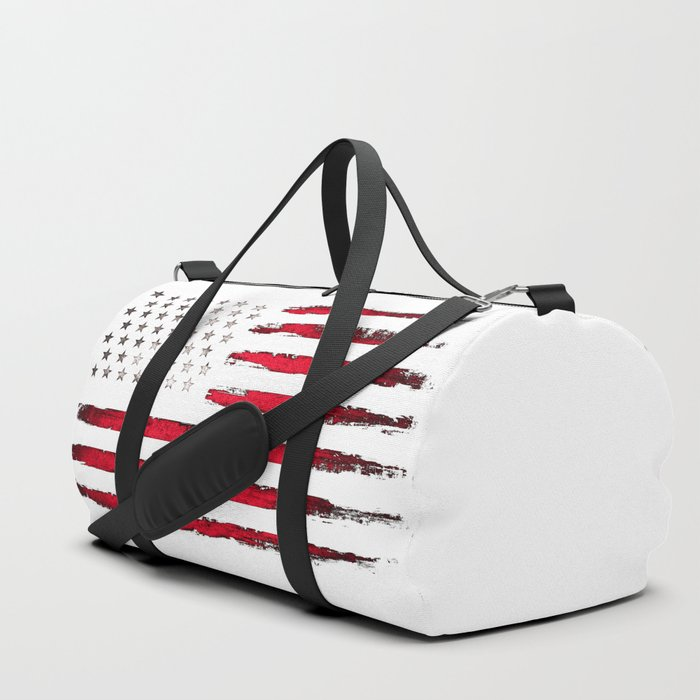 Red Vintage American Flag Duffle Bag