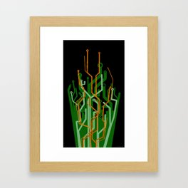 Circuit tree Framed Art Print