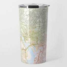 Washington DCmodern wall art Map Watercolor by Zouzounio Art Travel Mug