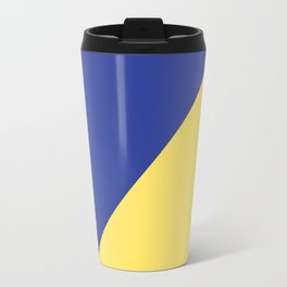 Modern royal blue sunshine yellow trendy color block Travel Mug