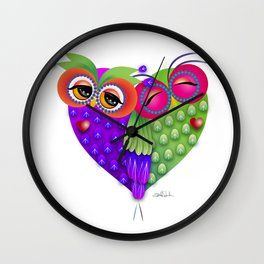Owl's love Wall Clock