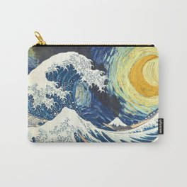 Starry Night Over The Great Wave Off Kanagawa Van Gogh/Hokusai Carry-All Pouch
