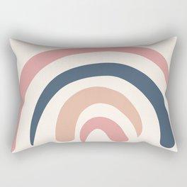 Mid Century Rainbow Nursery Bohemian Art Rectangular Pillow