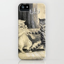 Cats On A Couch - Louis Wain Cats iPhone Case