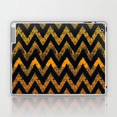 black and gold chevron Laptop & iPad Skin