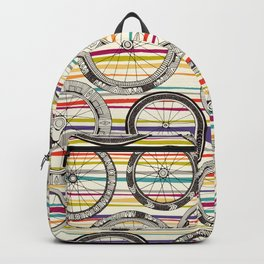 bike wheels stripe Backpack