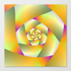 Yellow Pink and Green Spiral Canvas Print