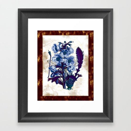 Black Light Botany Framed Art Print