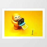 polaroid Art Prints featuring Polaroid by m4Calliope