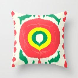 Ikat circle Throw Pillow