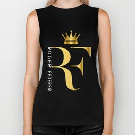 Roger Federer The King of Tennis Biker Tank