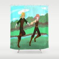 run Shower Curtains featuring Run by JessDanae's Art Studio