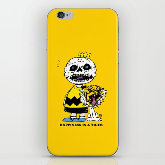 Happiness Is A Tiger iPhone & iPod Skin