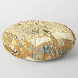 Gustav Klimt - Tree of Life Floor Pillow