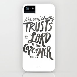 Psalm 112:7 iPhone Case