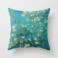 Vincent Van Gogh Blossoming Almond Tree Throw Pillow