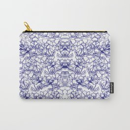 Blue Wild Flowers Carry-All Pouch