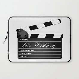 Our Wedding Clapperboard Laptop Sleeve