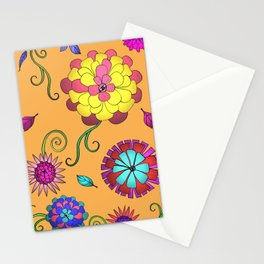 Crazy Daisy vitamin C pattern Stationery Cards