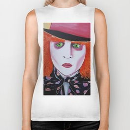 Mad Hatter Painting Biker Tank