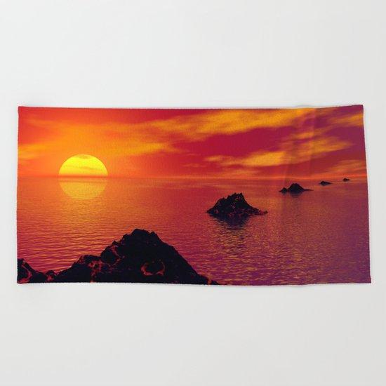Volcanic Chain Beach Towel