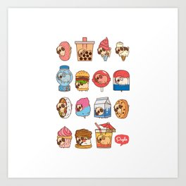 Puglie Food Collection 3 Art Print