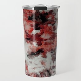 The Faces in the Ruby Red Snow Travel Mug