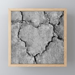 Ground Heart Framed Mini Art Print