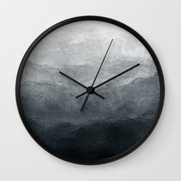 Black wave Wall Clock