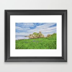 The old castle of Kinbane Framed Art Print