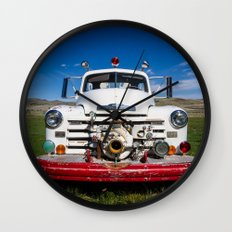 Old Fire Engine Wall Clock