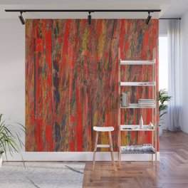 lines of red yellow Wall Mural