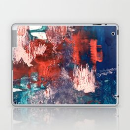 Bali: a vibrant, colorful abstract in blue, green, and pink/red Laptop & iPad Skin