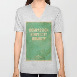 The Three Jewels of Taoism: Compassion, Simplicity, Humility Unisex V-Neck