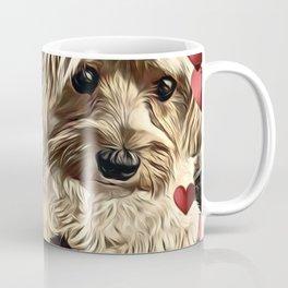 Yorkipoos with hearts dog art Coffee Mug