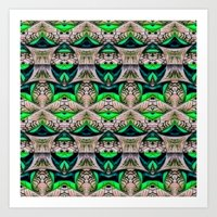 bamboo Art Prints featuring Bamboo by Zandonai Pattern Designs