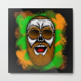 McGregor Style Errorface Skull Metal Print