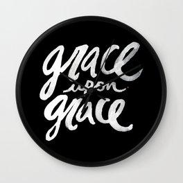 Grace upon Grace II Wall Clock