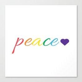 Rainbow Peace Canvas Print