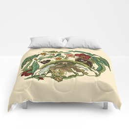 Botanical English Bulldog Comforters