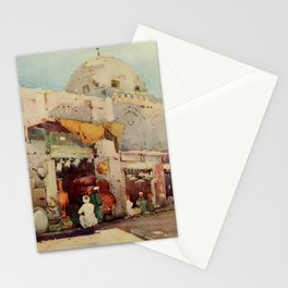 Cane, Ella du (1874-1943) - The Banks of the Nile 1913, Coppersmith's bazaar in Cairo Stationery Cards