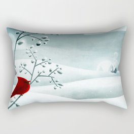 Cardinal by Friztin Rectangular Pillow