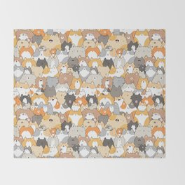 Cats, Kitties and a Spy Throw Blanket