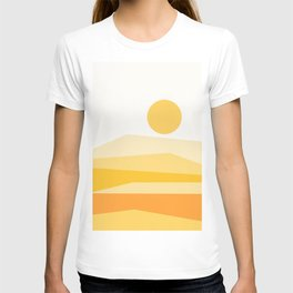 Abstract Landscape 09 Yellow T-shirt