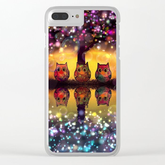 owl-110 Clear iPhone Case