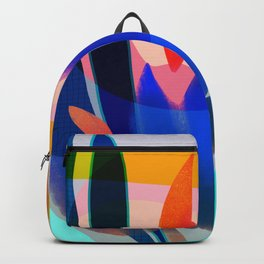 Shapes and Layers no.14 - leaves grid flames sun Backpack